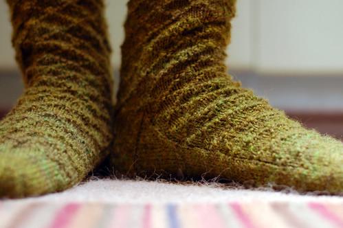 Gentleman's Lozenge Socks by adamknits.