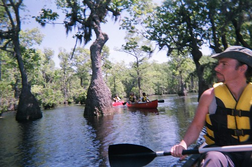 Canoeing Merchant's Millpond - Ryan and Jacal's Boat - Ryan Scouts