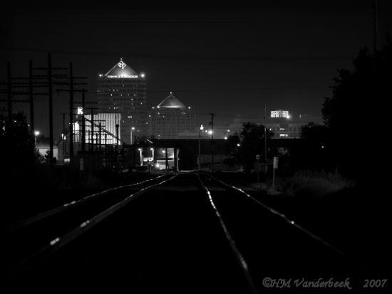 B&W Rail Reflections