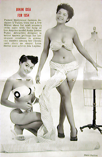 Bikini Idea for 1954 - Jet Mag Oct 1, 1953 by vieilles_annonces.