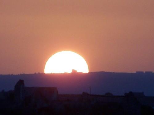 sole rovente tramonto landa