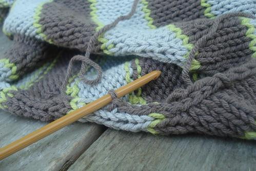 crocheted slip stitch