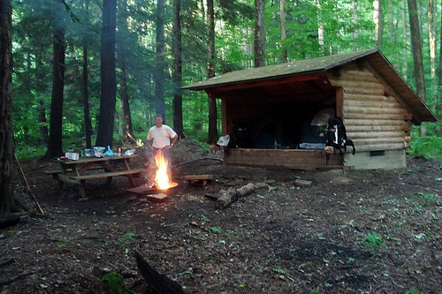 Morning Fire at Camp
