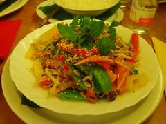 Coconut Wok stir-fry at vegetarian restaurant Green Planet in Amsterdam