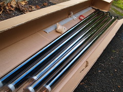 Evacuated solar tubes