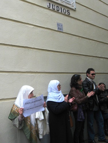 Cadena Humana Apoyo  Palestina  Córdoba calle Judios