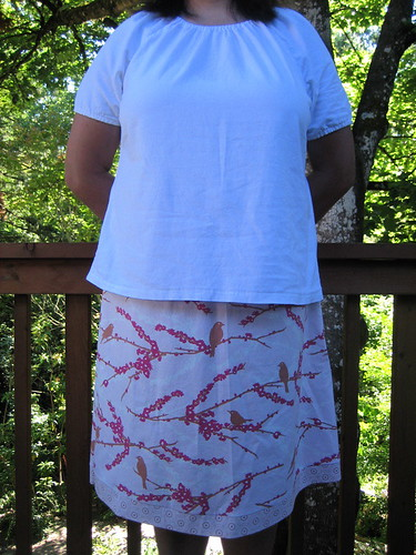 Pink Bird Skirt