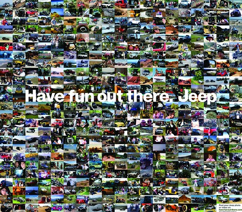 Have Fun Out There - Jeep Newspaper Mosaic