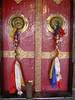 Door of prayer hall, Samkar gonpa, Ladakh