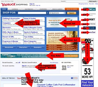 Yahoo! Shopping Is An Ad Portal