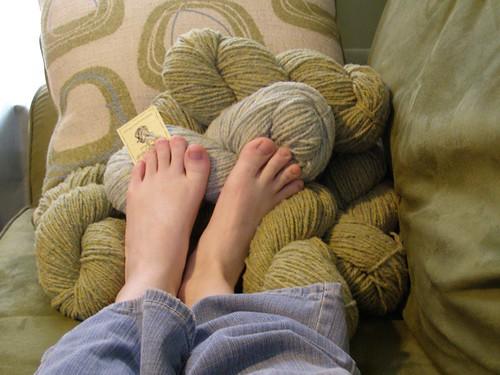 More yarny fun for my feet