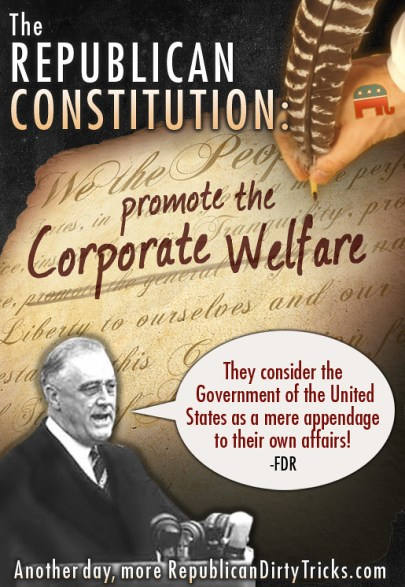 The Republican Constitution Promoe the Corporate Welfare Image