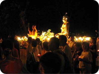 Wesak Day float - monk & buddha