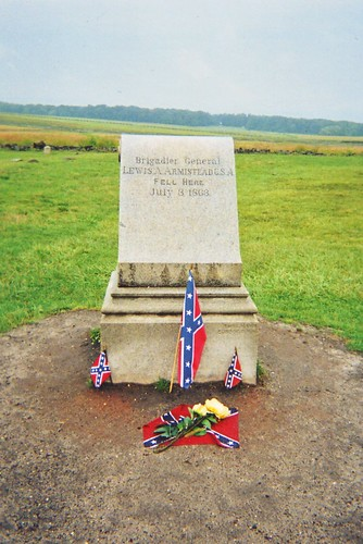 Brigadier General Lewis A. Armistead C.S.A. Fell Here July 3, 1863.