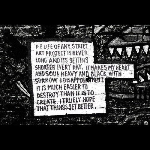 street art graff wall alley
