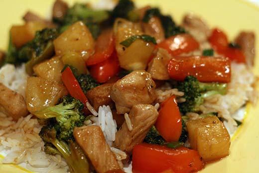 Sweet and Sour Pork Stir Fry