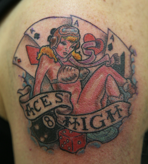 Aces High Tattoo