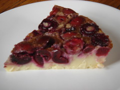 slice of sour cherry tart