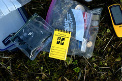Inside a geocache - Geocaching