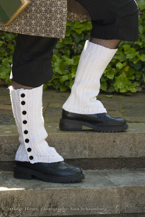 Puttin' On The Ritz spats: detail