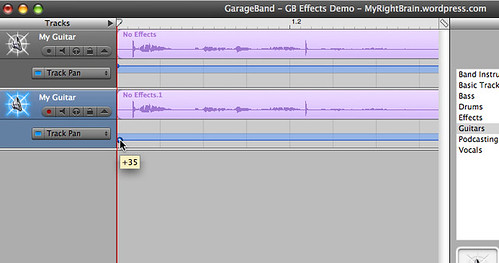 GarageBand: How to create stereo tracks | My Right Brain