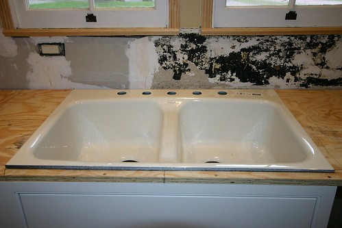 The sink...