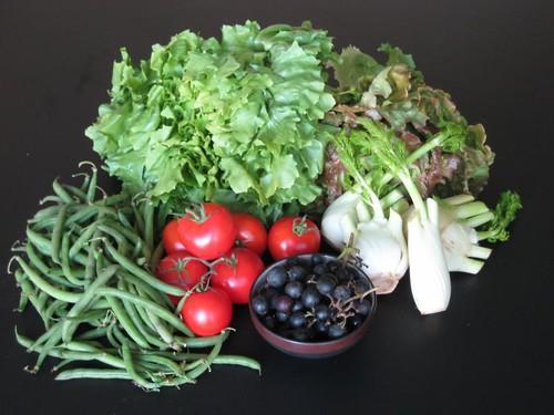 Amelishof organic CSA vegetables week 42, 2010
