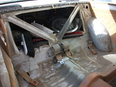 Rear seat area before - 1981 Datsun 210