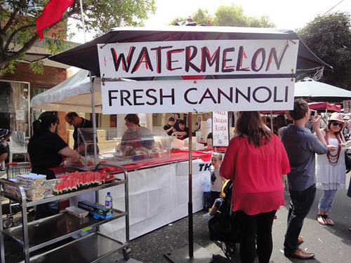 Norton Street Italian Festa: Watermelon & fresh cannoli