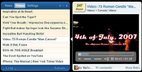 DiggTop: Video View