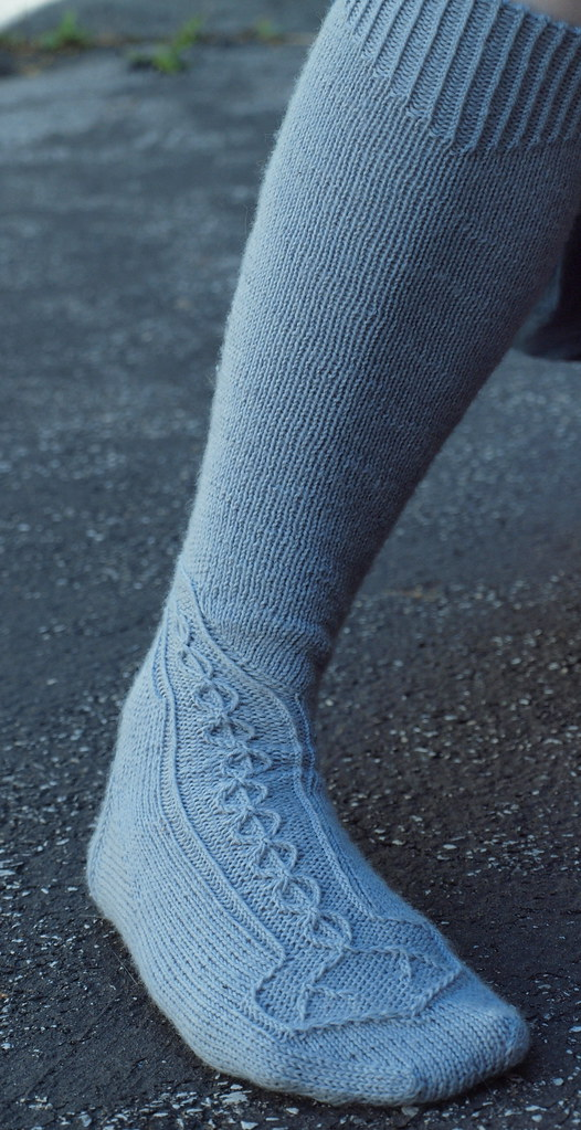 front view of sock