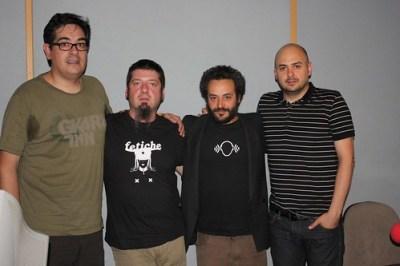 Con Antonio y Coque, de Dwomo