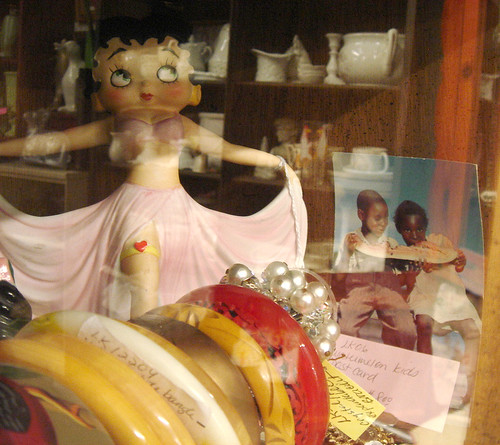 racial stereotypes in the antique store, by Opal in the rough