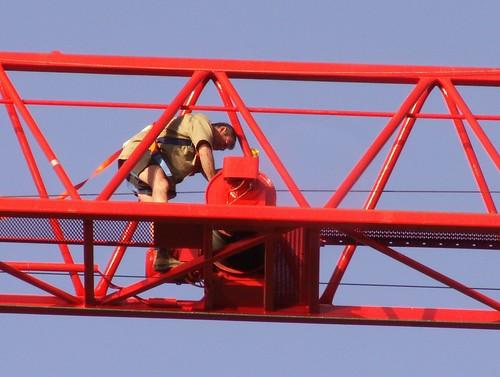 Idiot on crane