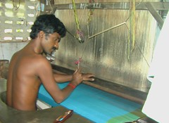A saree in the making