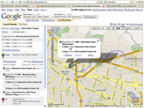 Google Maps Routenplaner Transit