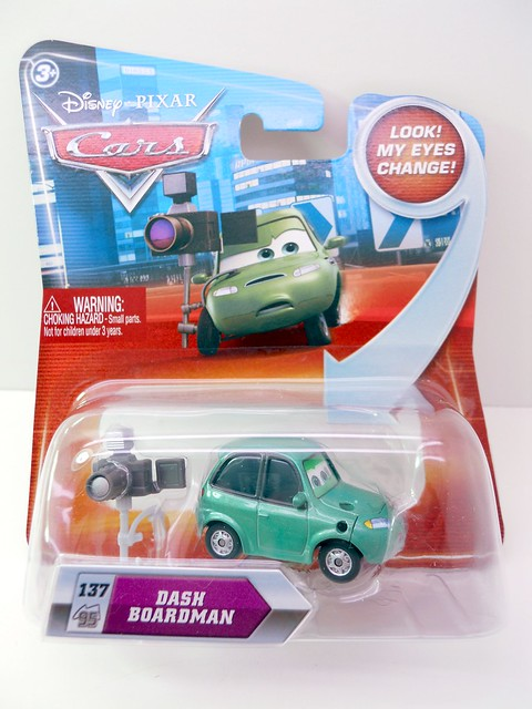 DISNEY CARS KMART COLLECTOR DAY 5 DASH BOARDMAN (1)