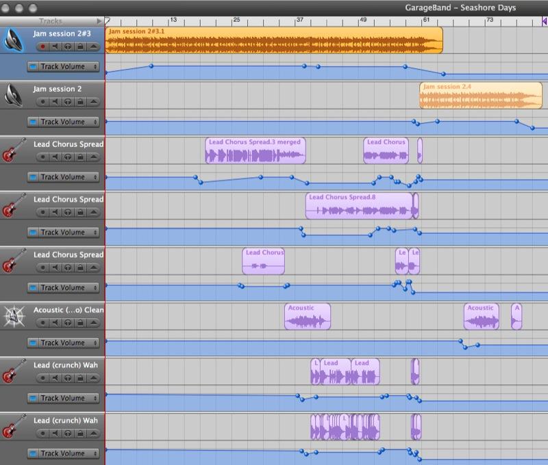 screenshot - GarageBand mash-up