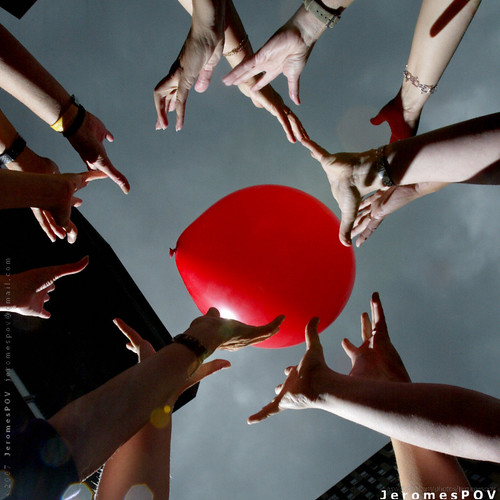 Hands On Red Balloon by JeromesPOV.