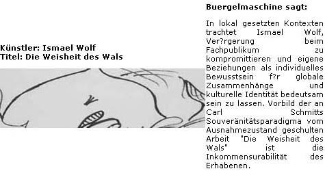 Ismael Wolf, Die Weisheit des Wals