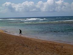 Larsen's Beach - net fisherman