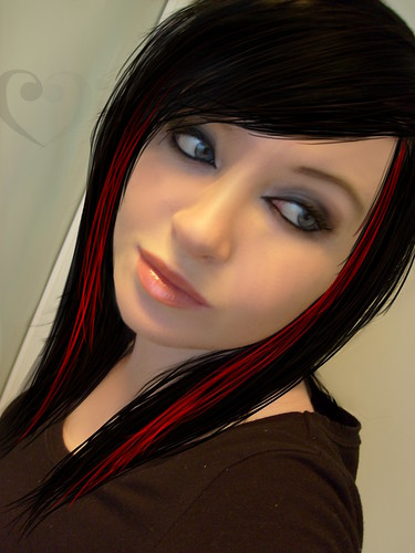 Black/Red Hair