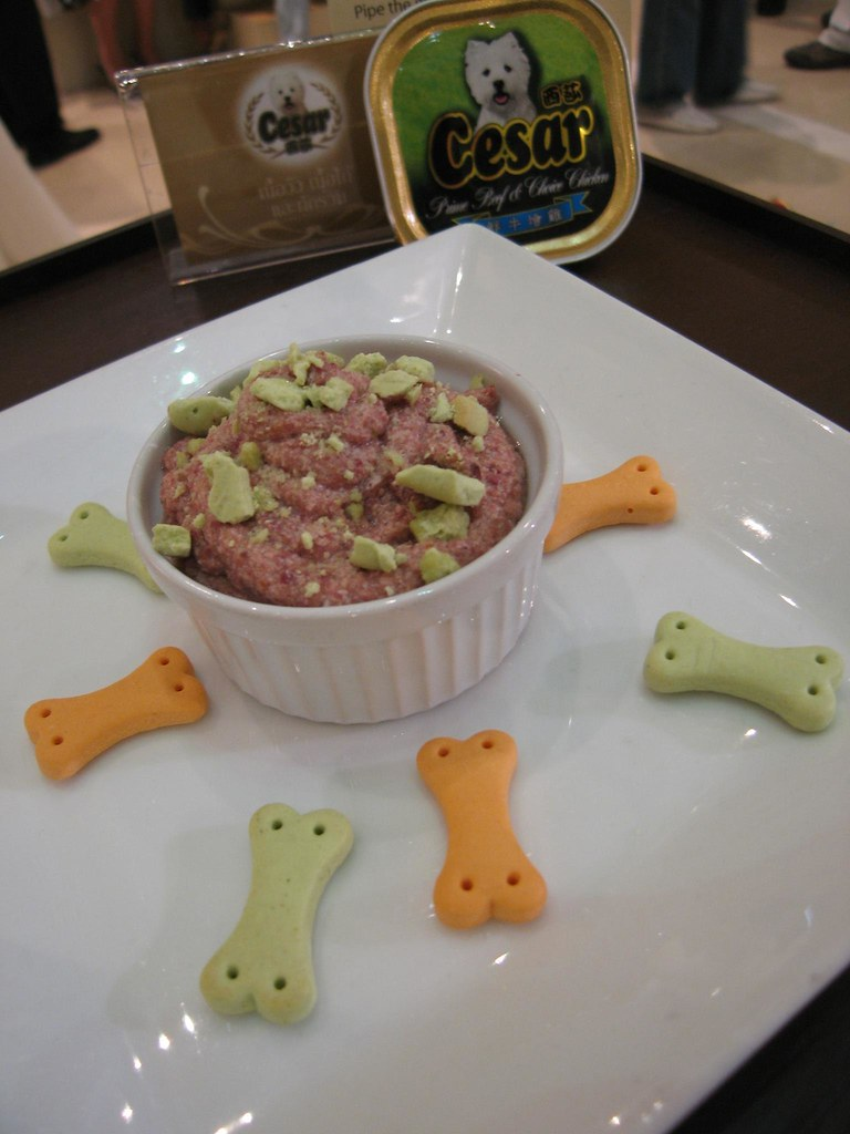Prime beef and choice chicken mousse