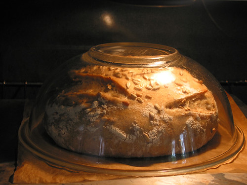 inverted Pyrex baking method