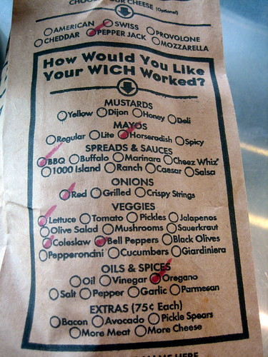 Which Wich Sandwich Labor Day 07