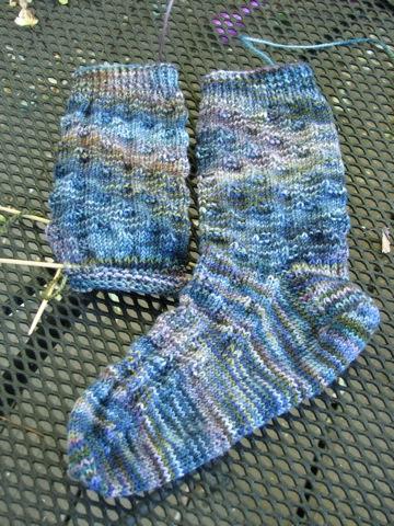 Spaced Check Socks 082107