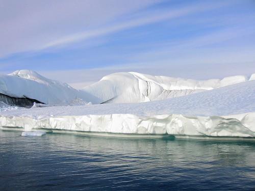 Glacier blanc d'Ilulissat au Groenland