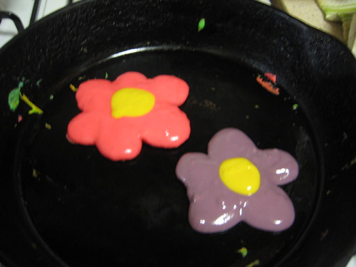 rainbow pancakes!