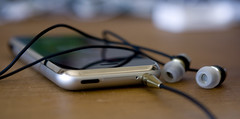 iPhone with V-Moda Vibe Earbuds - Works!