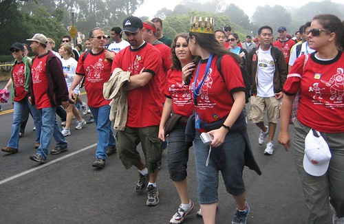 Team Congregation Beth David walking in AIDS Walk SF July 15, 2007